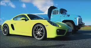 100 Porsche Truck Russian ZIL130 Humiliates 718 Cayman In Drag Race