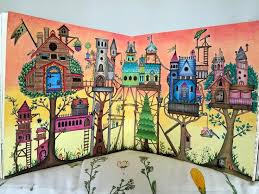 Colouring Coloring Books Tree Houses Johanna Basford Garden