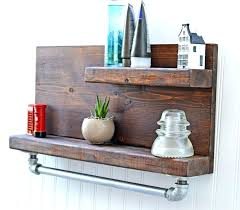 Bathroom Shelves For Towels Large Size Of Rustic Decor Cute Decors Wooden Shelf