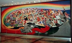 denver international airport murals pictures creepy paintings at denver international airport