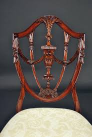Prince Of Wales Mahogany Carved Shield Back Dining Room Chairs Custom Made Modern Wood Ding Room Chair With Carved Seat Gazelle Crown Mark Kiera 2151sgy Traditional Side With Mahogany Chippendale Chairs For The Leather Seats Antique Round Table Set 21 W Of 2 High Back Linen Blend Hand Solid Frame Classic Arab Wedding Cross Bar Cast Pulaski Fniture San Mateo Pair Teak Fniture In 2019 Sothebys Home Designer Hooker Handcarved Wooden Luxury Palace White Color Baroque Carving For Set Of 82 19th Century Carved Swedish Birch Chippendale Design