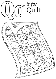 Click To See Printable Version Of Letter Q Is For Quilt Coloring Page