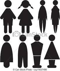 toilette femme hommes signes toilette symbole vecteur