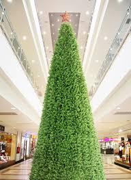 Artificial Pre Lit Douglas Fir Christmas Tree by 40 Foot Giant Commercial Artificial Christmas Tree With Warm White