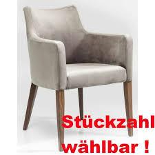 kare design polsterstuhl mit armlehne mode velvet grau samt esszimmer stühle
