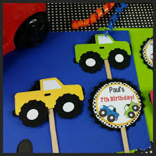 12 Personalized Monster Truck Cupcake Toppers | Grace Giggles And Glue Personalised Monster Truck Edible Icing Birthday Party Cake Topper Buy 24 Truck Tractor Cupcake Toppers Red Fox Tail Tm Online At Low Monster Trucks Cookie Cnection Grave Digger Free Printable Sugpartiesla Blaze Cake Dzee Designs Jam Crissas Corner Cake Topper Birthday Edible Printed 4x4 Set Of By Lilbugspartyplace 12 Personalized Grace Giggles And Glue Image This Started