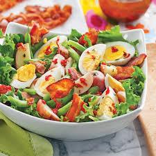 cuisine santé express salade de pommes de terre aux œufs et haricots verts soupers de