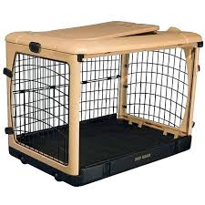 Dog Shipping Crate Images The Other Door Inch Steel Pet Wooden Animal