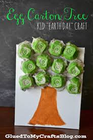 Crafts Using Recycled Materials For Kids Egg Carton Tree Kid S Earth Day Craft Of