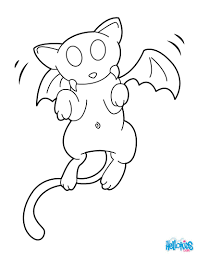 Cat Vampire Hybrid Monster Coloring Page