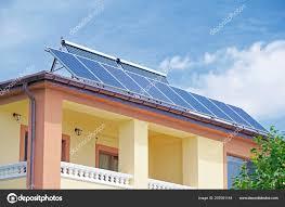 100 Modern Houses Images Solar Panels Roof Alternative Energy Stock Photo