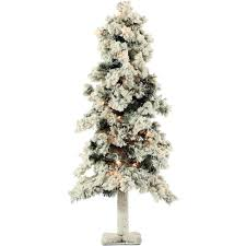 5ft Pre Lit White Christmas Tree by Crab Pot Trees 3 Ft Indoor Outdoor Pre Lit Incandescent