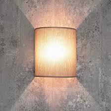 loft wandle stoff schirm halbrund e27 in grau design wandle wohnzimmer flur schlafzimmer