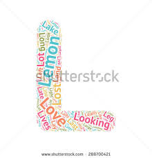 Cute Word Cloud Abc Letters Series Stock Vector