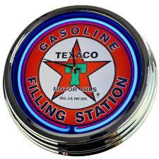 kolekcje n 0212 wanduhr texaco deko neonuhr esszimmer