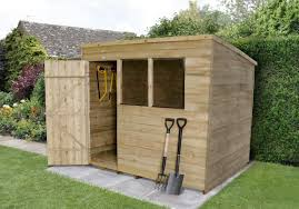 8x6 Wood Storage Shed by Pressure Treated Overlap Sheds