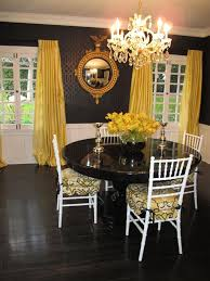 18 Yellow Dining Room Curtains Subtle Black Wallpaper In White And