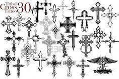 Tribal Cross Tattoo Design Stock Photo