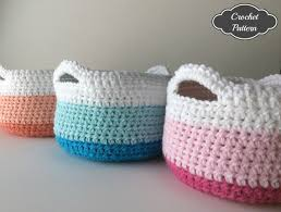 CROCHET PATTERN Crochet Basket Pattern Home Decor