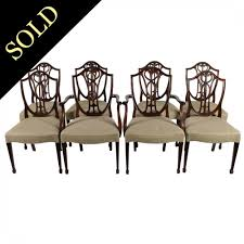Set Of Eight Hepplewhite Style Chairs 4 Hepplewhite Style Mahogany Yellow Floral Upholstered Ding Chairs Style Ding Table And Chairs Pair George Iii Mahogany Armchairs Antique Set Of 8 English Georgian 12 19th Century Elegant Mellow Edwardian Design Antiques World 79 Off Wood Hogan Side Chair Eight Late 18th Of