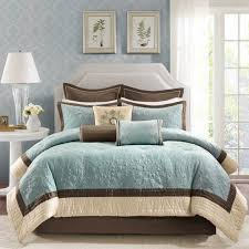Taupe And Teal Bedding