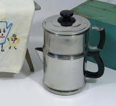 Non Electric Drip Coffee Maker 8 Cup Lifetime Stainless Steel Vintage