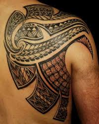 Right Back Shoulder Samoan Tattoos
