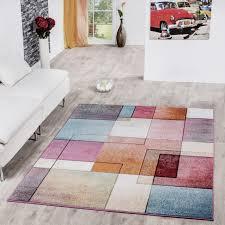 teppich multicolour bunt karo