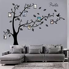 decalmile riesiger familie baum wandtattoo bilderrahmen fotobaum wandsticker diy entfernbarer wandaufkleber wohnzimmer schlafzimmer wanddekoration