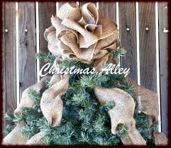 Christmas Tree Toppers Ideas by Burlap Star Christmas Tree Topper Burlap Bow Tree Topper Diy