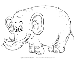 If You Want This Illustration In Color Version Visit Link Free Cartoon Clipartblogspotro 2015 06 Elephant Clipart