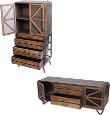 wohnzimmer set hwc f91 tv rack kommode highboard