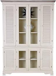 wohnzimmer schrank landhausstil vitrine standregal