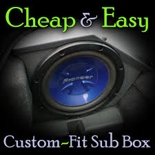 Cheap & Easy Custom-Fit Sub Box: 9 Steps (with Pictures) Our Guide To Choosing The Best 12 Inch Subwoofer Aug 2018 Goldwood Tr10f 10 Single Truck Box Speaker Cabinet Jbl Club Ws1000 Shallow Mount Tundra Crewmax Oem Audio Plus Basspro Sl Powered 8 Underseat Car Systems 52017 Ford Mustang Phantom Fit Enclosure How Build A Box For 4 Subwoofers In Silverado Youtube Amazing Carpet 24 Dual Sealed Regular Cab Sub Atrend Usa Custom Boxes