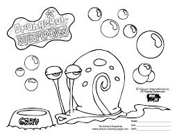 Spongebob Colouring Pages Black White