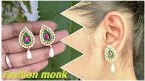 How To Make Simple Earrings In Just 2 Minutes At Home | How To ... How To Make Pearl Bridal Necklace With Silk Thread Jhumkas Quiled Paper Jhumka Indian Earrings Diy 36 Fun Jewelry Ideas Projects For Teens To Make Pearls Designer Jewellery Simple Yet Elegant Saree Kuchu Design At Home How Designer Earrings Home Simple And Double Coloured 3 Step Jhumkas In A Very Easy Silk Earring Bridal Art Creativity 128 Jhumka Multi Coloured Pom Poms Earring Making Jewellery Owl Holder Diy Frame With