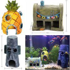 Spongebob Aquarium Decorating Kit by Spongebob Fish Tank Ornaments Ebay