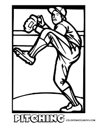 Print Picture Of Pitcher Baseball To Colour At YesColoring