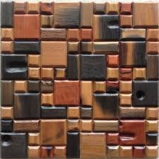 cheap mosaic 3d wall panel design with size and color