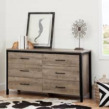 South Shore 6 Drawer Dresser Black by South Shore Munich 6 Drawer Weathered Oak Dresser 10491 The Home
