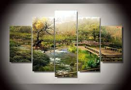 Nature Wall Art Natural Scenery Picture Canvas Painting For Home Decor Print Poster On Pictures Unframed 5 Pieces