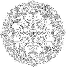 Creative Haven Nature Mandalas Coloring Pages