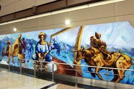 Denver International Airport Murals Pictures by Denver Denver International Airport Mile High And Risin U2026 Flickr