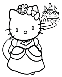 Great Awesome Coloring Pages Hello Kitty Princess Print