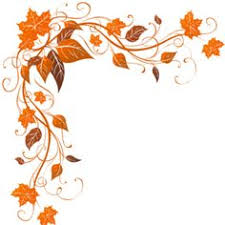 fall leaf corner border clipart