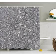 Christmas Bathroom Sets At Walmart by Silver Shower Curtain Set Glamour Glitters Themed Luxury Shiny