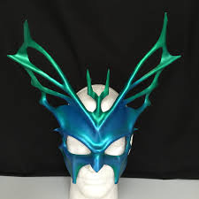 The Purge God Mask Halloween by Greek God Mask Blue Leather Mask Hydra Halloween Mask