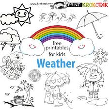 Coloring Pages Printable Weather Umbrella Free Templates For Kids Page Sheets Early Learning Picture