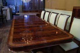 Newest High End Extra Amp Long Mahogany Dining Table Seats 12 16 People