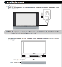 Sony Grand Wega Kdf E42a10 Lamp by How Do I Change The Bulb In A Hitachi 50v720 Projection Tv
